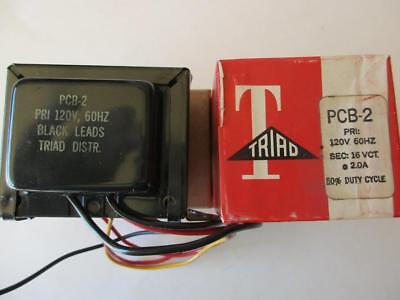 Triad Transformer Pcb-2 Primary 120v Secondary 16vct 2 Amps 50 Duty Cycle Nos