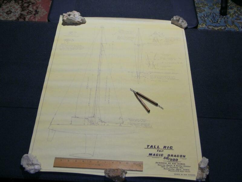 Very Rare Authentic Ship Boat RC Plan Ozmun