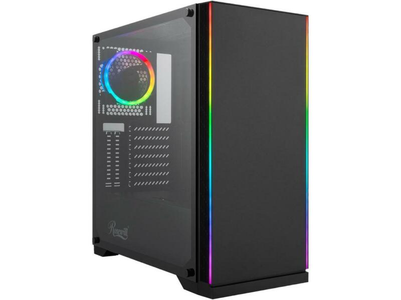 Rosewill ZIRCON I ATX Mid Tower Gaming PC Computer Case with RGB Fan & LED Light