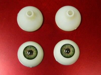 Realistic Acrylic Eyes for Halloween PROPS, MASKS, DOLLS or Bears (GREEN26mm) - Eye Masks For Halloween
