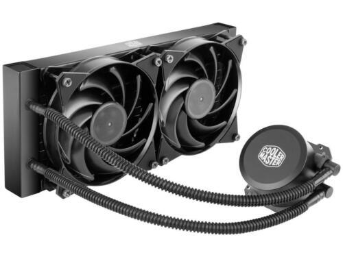 Cooler Master MasterLiquid Lite 240 AIO CPU Liquid Cooler, White Led Pump, FEP