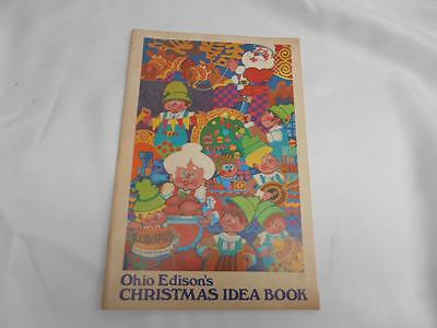 Old Vtg 1970s Ohio edisons CHRISTMAS IDEA BOOK Cookbook How To Decorations - 1970s Decorating Ideas