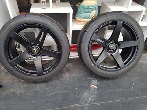 Street slicks Tyres & Rims Harrington Park Camden Area Preview