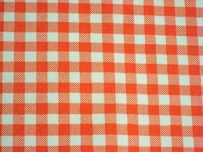 Western Tischdecken (ORANGE GINGHAM CHECK RETRO WESTERN KITCHEN DINE OILCLOTH VINYL TABLECLOTH 48x60)