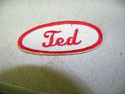 Red & White Ted Uniform Name Patch Chrysler Dodge Plymouth Buick Chevy Shell