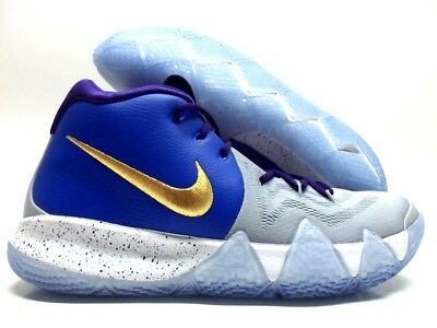 newest collection 05736 19566 NIKE KYRIE 4 ID COOL GREY ROYAL BLUE-GOLD-PURPLE SIZE MEN S 11.5  AR3867-994