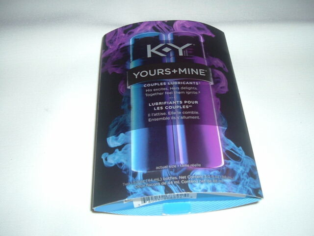 K-Y YOURS + MINE COUPLES LUBRICANT HIS & HERS LUBE KIT EXCITES AND DELIGHTS 3oz