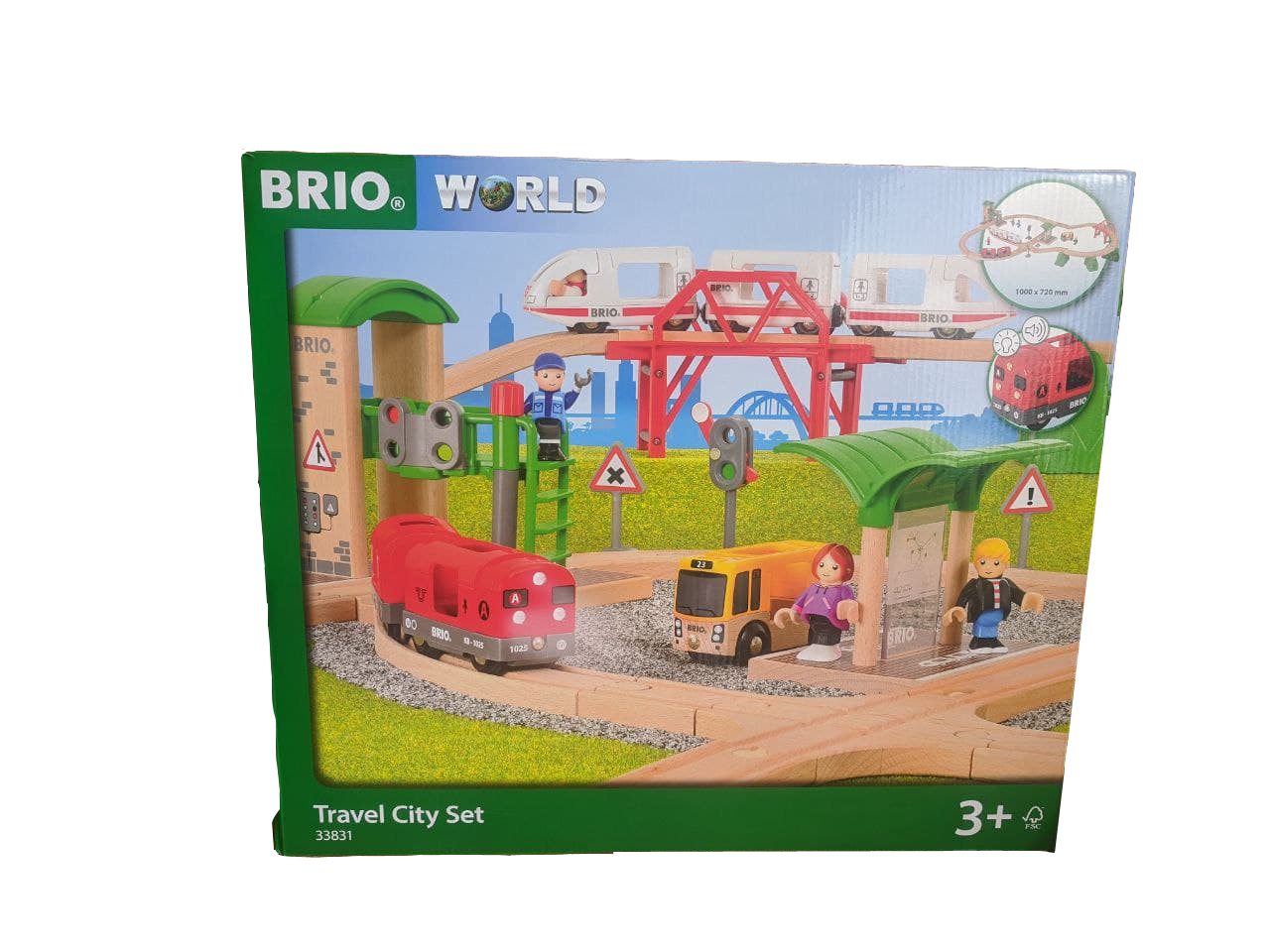 Brio Travel City Set 63383100 ✅ Holz Spielzeug Zug  Bus Schienen Haltestelle OVP