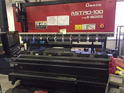 Amada Astro-100m Fbd Iii-8025m Robotic Bending Cell Brake Press 80 Ton 5 Axis