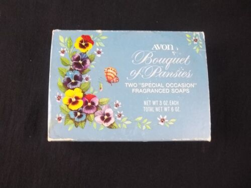 Avon Bouquet of Pansies Special Occasion Soap