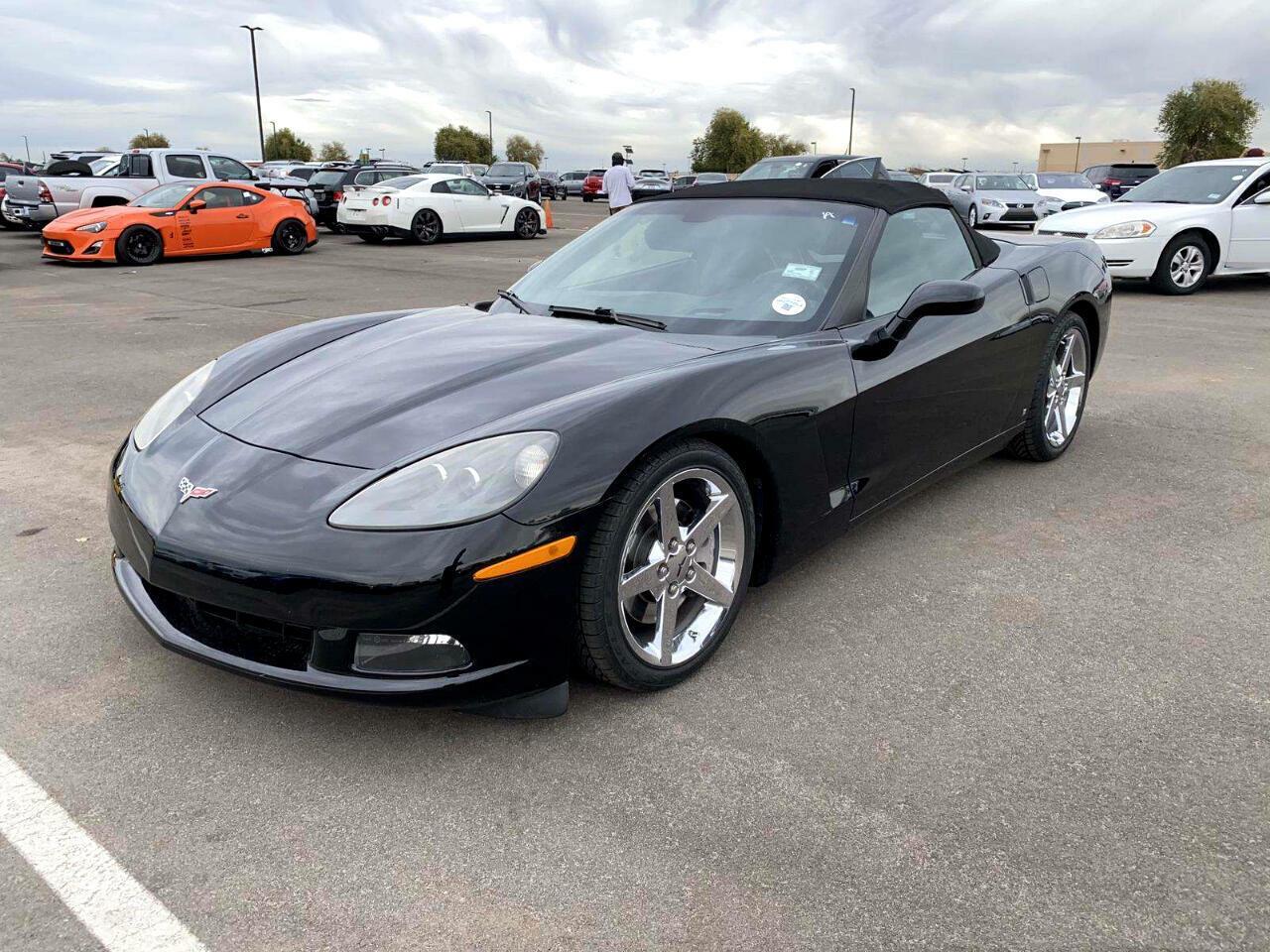 2007 Black Chevrolet Corvette Convertible    C6 Corvette Photo 10