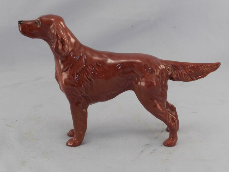Vintage John Beswick Porcelain Figurine~Irish Setter Dog~Hand Painted Figure~VGC