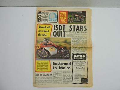 July 1973 Motor Cycle News Newspaper Yamaha 750 Triumph 504 Rickman 125 L11055