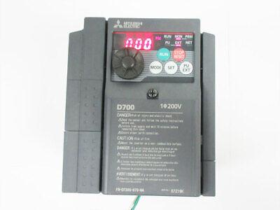 Mitsubishi D700 Fr-d720s-070-na 2hp 240v Vfd Inverter Ac Drive