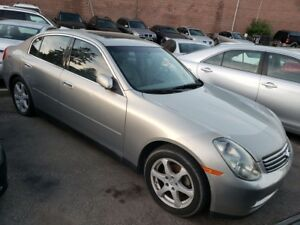 2004 Infiniti G35 3.5L/Leather/Sunroof/Heated Seats/Power Grp/Al