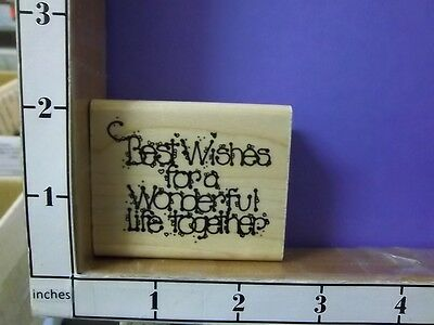 best wishes for a wonderful life together wedding saying rubber stamps - Best Wishes For Wedding