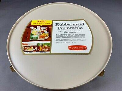"Vintage Rubbermaid Round Lazy Susan Turntable 16"" Sand 2300"