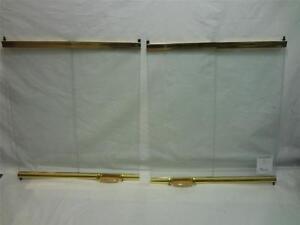 New Lennox Superior Merit 42ABF BB 42 034 Brass Glass Fireplace Doors 86L34 B