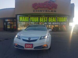 2012 Acura CL w/Tech Pkg NAVI SUNROOF TAN AWD BLK WLS CAM