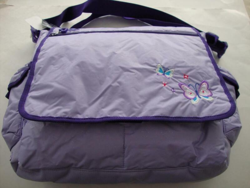 Gap Kids Pale Purple Butterfly Lightly Padded Book Shoulder Bag Girl - NWT NEW