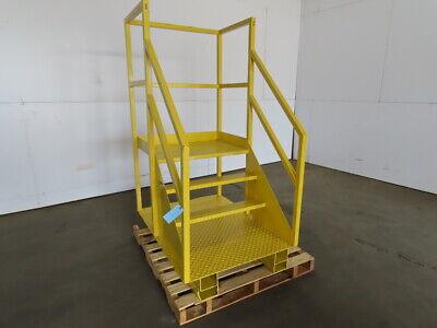 Industrial 4 Step Steel Platform Ladder Forklift Work Cage 32-12 X 23 X 31