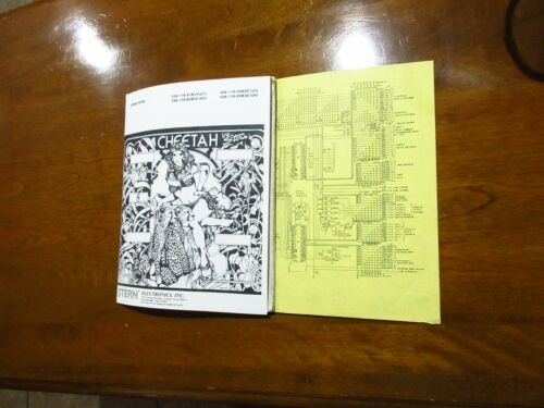 Stern CHEETAH Pinball Manual & Schematics