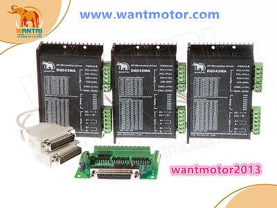 3 Pcs Stepper Motor Driver Dq542ma 18-50v 128microsteps For Nema23 Motor