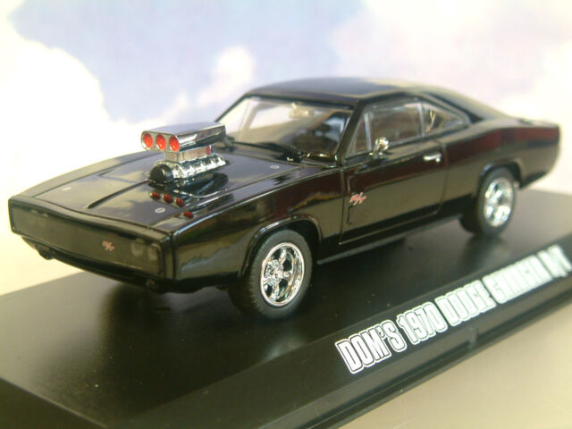 GREENLIGHT 1/43 DOM'S 1970 DODGE CHARGER R/T BLACK FAST & FURIOUS FIVE 5 86228
