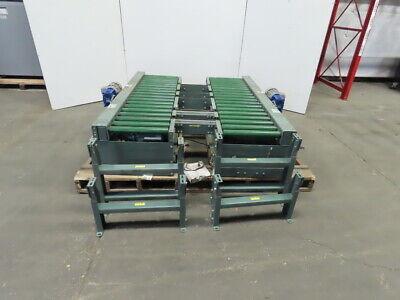 Hytrol Twin 18x 72 Powered Chain Roller Pallet Conveyor Wlift Chain Transfer