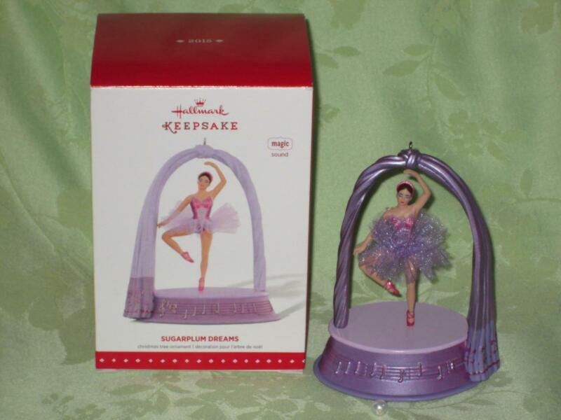 Hallmark 2015 SUGARPLUM DREAMS Ballerina Nutcracker music ornament Free Shipping