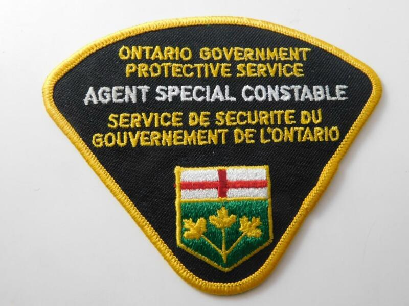 ONTARIO GOVERNMENT PROTECTIVE SERVICES  POLICE SPECIAL CONSTABLE PATCH BADGE