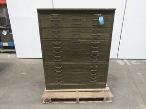 HAMILTON 15 Drawer Vintage Architect Blueprint Art Flat Files File Cabinet