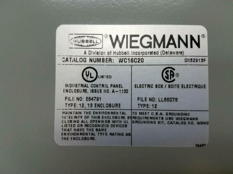 WIEGMANN WC16C20 ELECTRICAL TYPE 12, 13 ENCLOSURE