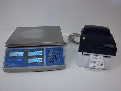 Sws-pcs-60 Lb Price Computing Scale Lbs Kgs Oz Barcode Printer Thermal Label