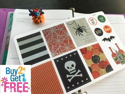 PP117-- Halloween Boxes Icons Life Planner Stickers for Erin Condren (12pcs) - Pp Halloween