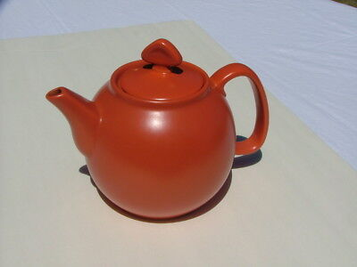 Lovely Chantal Orange 6 cup Stoneware Teapot