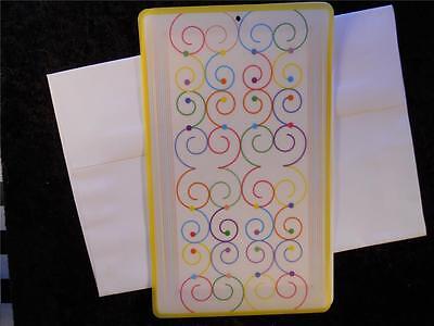 10 Multi-color Dot Border Cards & Multi-color Swirl Overlay 10 White Envelopes