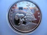 1-OZ.999 SILVER PEANUTS GANG CHARLIE BROWN LUCY SNOOPY KISS ENGRAVABLE COIN+GOLD