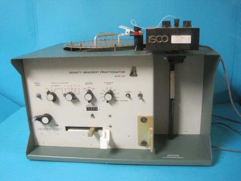ISCO Teledyne Density Gradient Fractionator Collector Model 640 Ultraviolet Unit