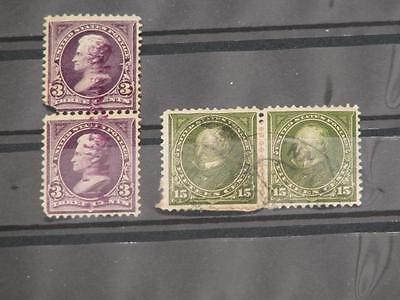 US Scott# 268 Pair (faults), 284 Pair (on Paper) used