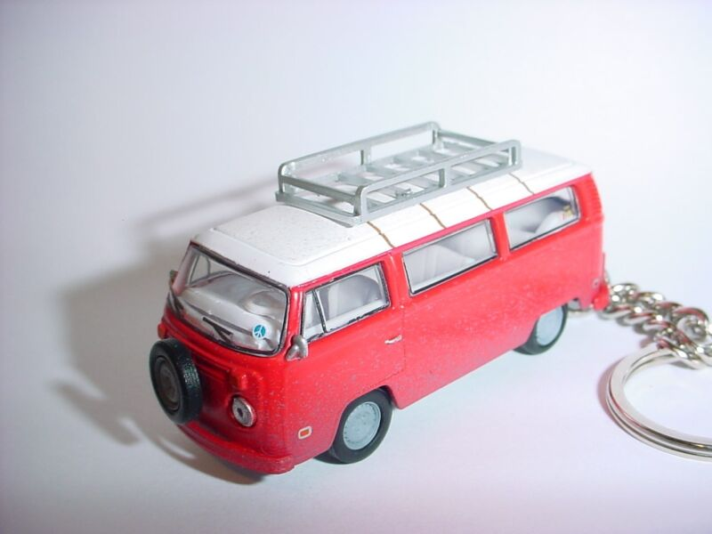 NEW 3D RED 1973 VOLKWAGEN TYPE 2 VAN CUSTOM KEYCHAIN KEY CHAIN keyring PEACE VW!
