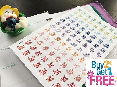 Pp255    Small  Lazy Day  Life Planner Stickers For Erin Condren  96Pcs