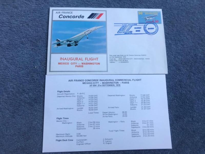 Air+France+Concorde+First+Flight+Mexico+City+-+Washington+21st+September+1978