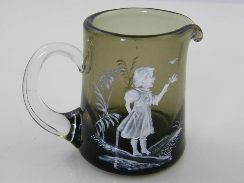 MARY GREGORY GLASS CREAM JUG