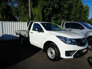 2018 Mazda BT-50 UR0YE1 XT 4x2 Cool White 6 Speed Manual Cab Chassis