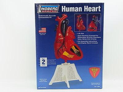 "LOT 12788 | Lindberg Science Kits 71309 ""Human Heart"" Herz 1:1 Bausatz NEU OVP"