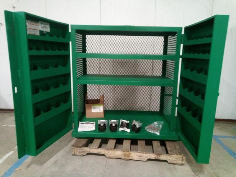 Greenlee 5060 MESH 48 In W 28 In Depth 52 In H Green Jobsite Storage Cabinet