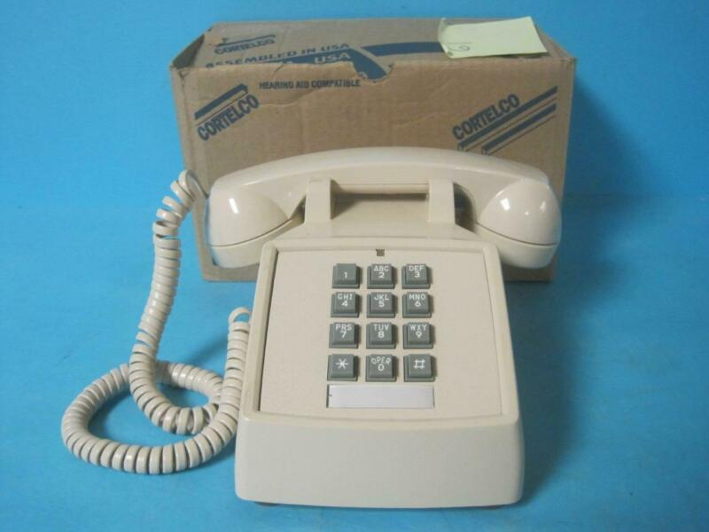 CORTELCO CORDED PHONE TELEPHONE DESK 250044-VBA-20M With Handset VOLUME CONTROL