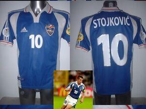 Yugoslavia STOJKOVIC Adidas Shirt Jersey Football Soccer Adult Small Euro 2000