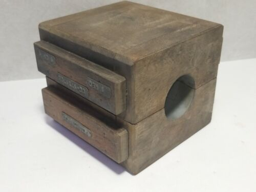 Vintage Industrial Wooden Foundry Mold pattern Pipe Form casting steampunk art